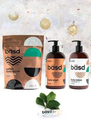 Basd Body Care Invigorating Mint Holiday Bundle Pack