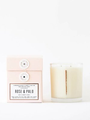 Woodlot Rose + Palo 13.50z Candle