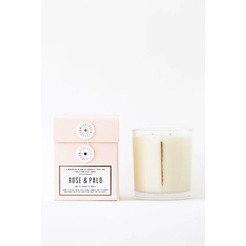 Woodlot Rose + Palo 13.5oz Candle