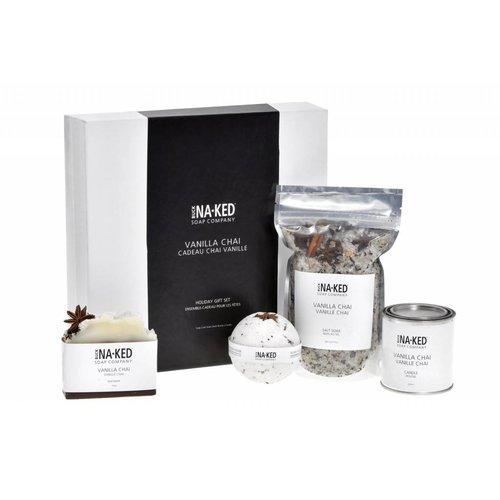 Buck Naked Soap Company Vanilla Chai Holiday Set