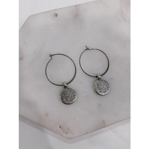 Atelier SYP Mayan Coin Earrings