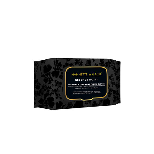 Nannette De Gaspé Essence Noir Treating & Cleansing Facial Cloths