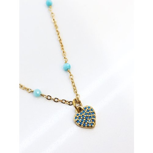 Atelier SYP Amazonite Heart Necklace