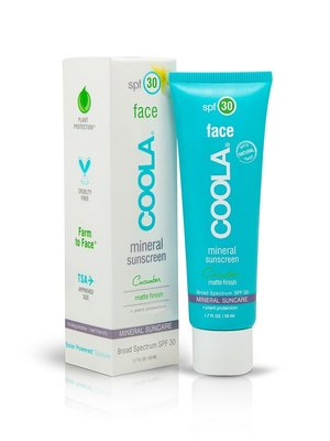 Coola Mineral Face SPF30 matte finish lotion cucumber