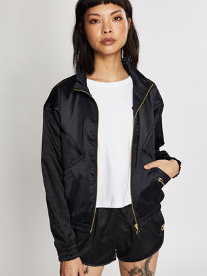 CHAMPION Black Satin Jacket
