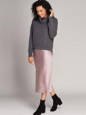 C'est Moi Satin Midi Skirt