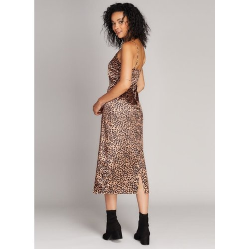 C'est Moi Animal Print Slip Dress