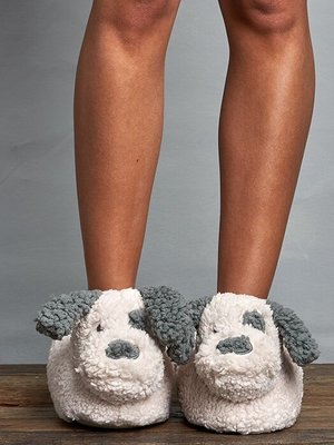 Lemon Loungewear Puppy Dog Slippers