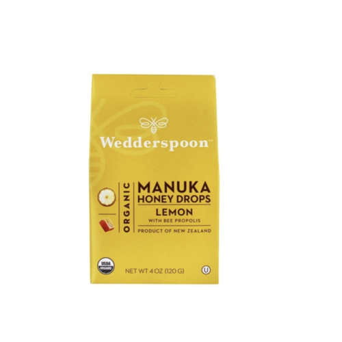 Wedderspoon Organic Manuka Honey Drops Lemon + Propolis