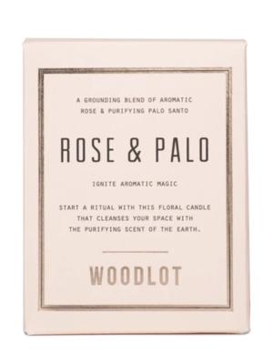 Woodlot Rose & Palo Candle