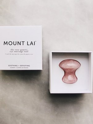 Mount Lai Rose Quartz Eye Massage Tool