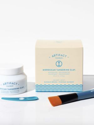 Artifact Skin Co. Moroccan Tangerine Clay Masque + Brush Kit