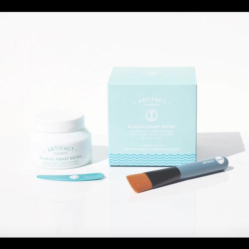 Artifact Skin Co. Glacial Coast Detox Masque + Brush Kit