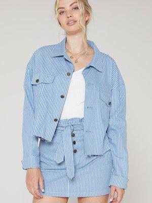 Sadie & Sage No Doubts Stripe Denim Jacket