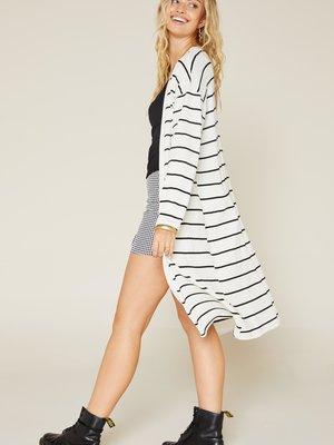 Sadie & Sage Stripe Knit Cardi