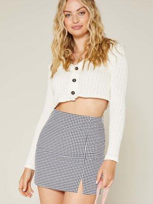 Sadie & Sage Truly Deeply Mini Skirt