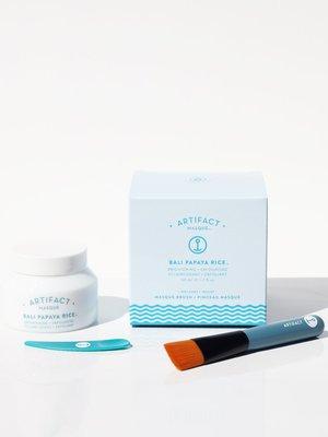 Artifact Skin Co. Bali Papaya Rice Masque + Brush Kit