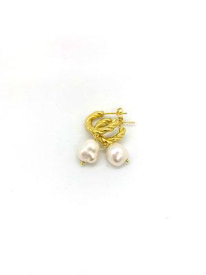 Atelier SYP 18K Mini Pearl Hoop