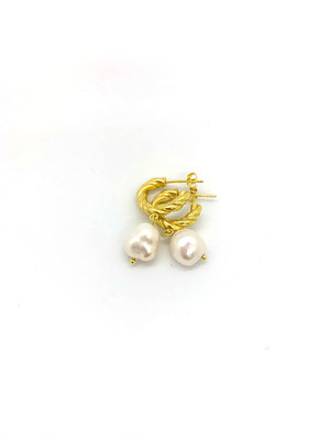 Atelier SYP 18K Mini Pearl Hoops