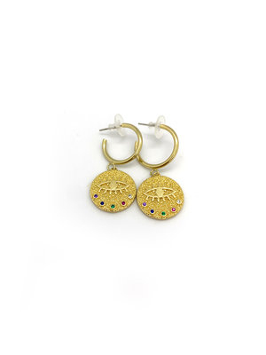 Atelier SYP Rainbow Evil Eye Earrings