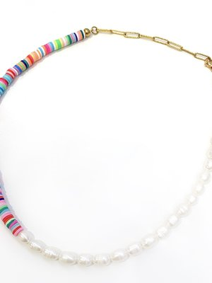 Atelier SYP Rainbow Pearl Choker