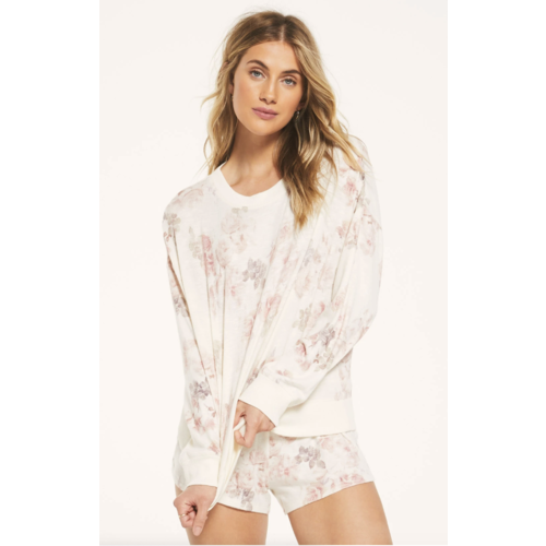 ZSupply Elle Floral Long Sleeve Bone