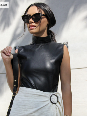 BB Dakota Vegan Leather Bodysuit