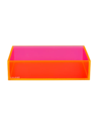 Coloré Large Tray - Coral