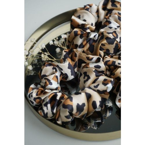 The Silk Labs Cheetah Silk Scrunchie