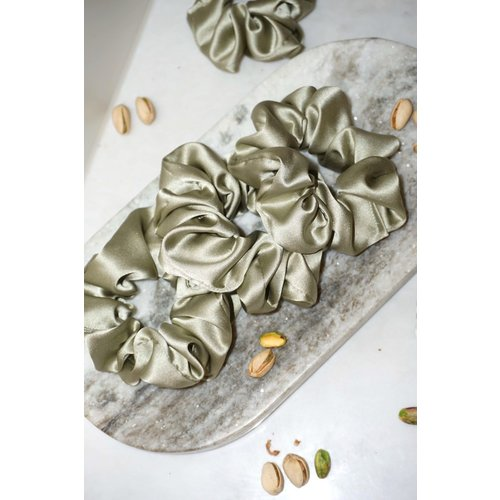 The Silk Labs Pistachio Silk Scrunchie