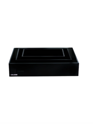 Coloré Tray Set - Opaque Black