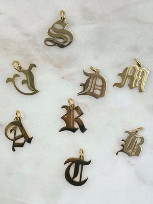 Atelier SYP 18K Old English Pendants