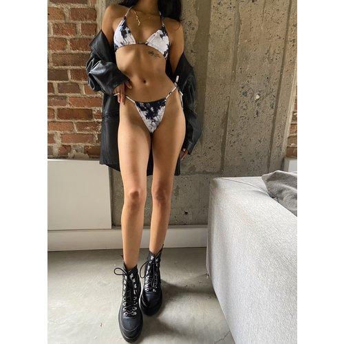 O'QUAI Tie Dye Bikini Black