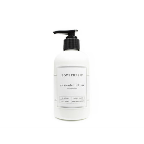 LoveFresh Unscented Hand & Body Lotion