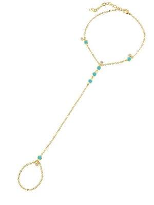 Lili Claspe Anais Hand Chain Turquoise