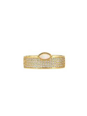 Lili Claspe Marquise Cigar Ring Pave