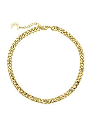 Lili Claspe Celine Curb Link Anklet Smooth