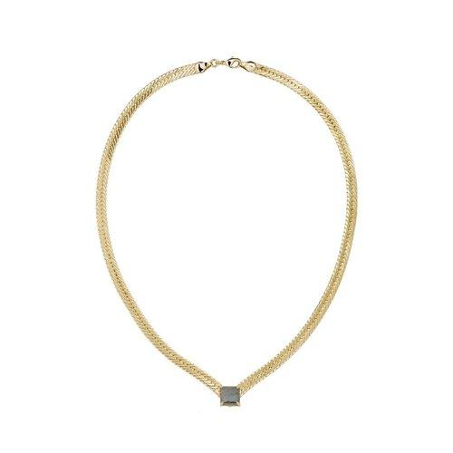 Lili Claspe Bella V Necklace Labradorite