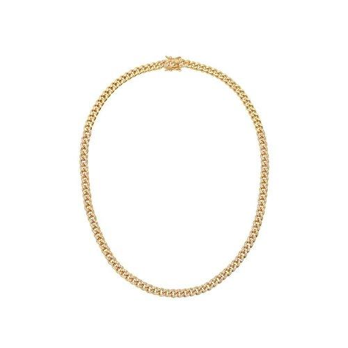 "Lili Claspe Celine Curb Link Chain Pave 16"""