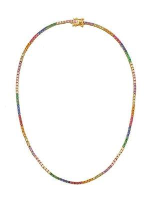 Lili Claspe Amina Mini Rainbow Tennis Necklace