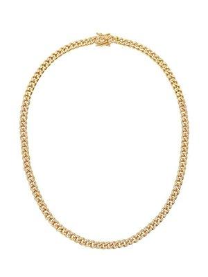 "Lili Claspe Celine Curb Link Chain Pave 18"""