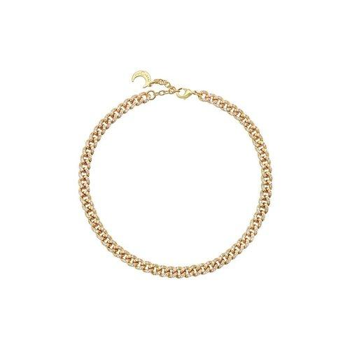 "Lili Claspe Celine Pavé Curb Link Anklet 9.5"""