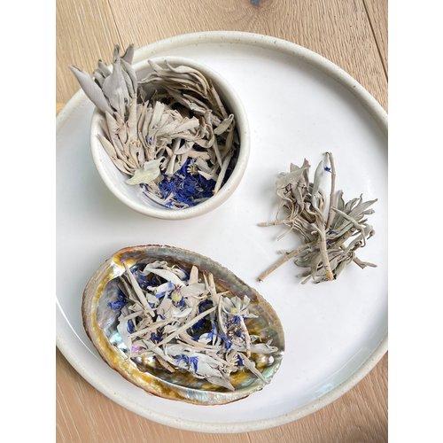 Loose Sage & Blue Cornflower Petals