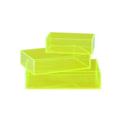 Coloré Tray Set - Neon Yellow