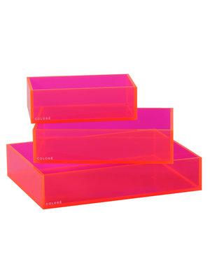 Coloré Tray Set - Neon Pink
