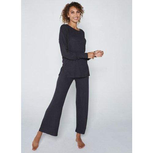 C'est Moi Rayon Soft Knit Wide Pants