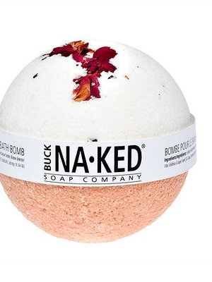 Buck Naked Soap Company Rose with Moroccan Red Clay Bath Bomb