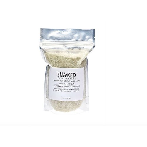 Buck Naked Soap Company Lemongrass & French Green Clay Dead Sea Salt Soak