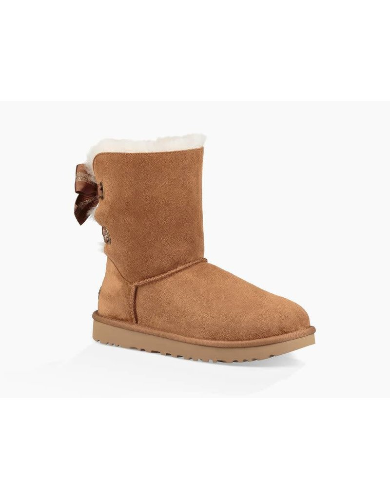 c2152dd2d30 UGG Womens Customizable Bailey Bow Short Chestnut