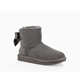 UGG UGG Womens Customizable Bailey Bow Mini Charcoal